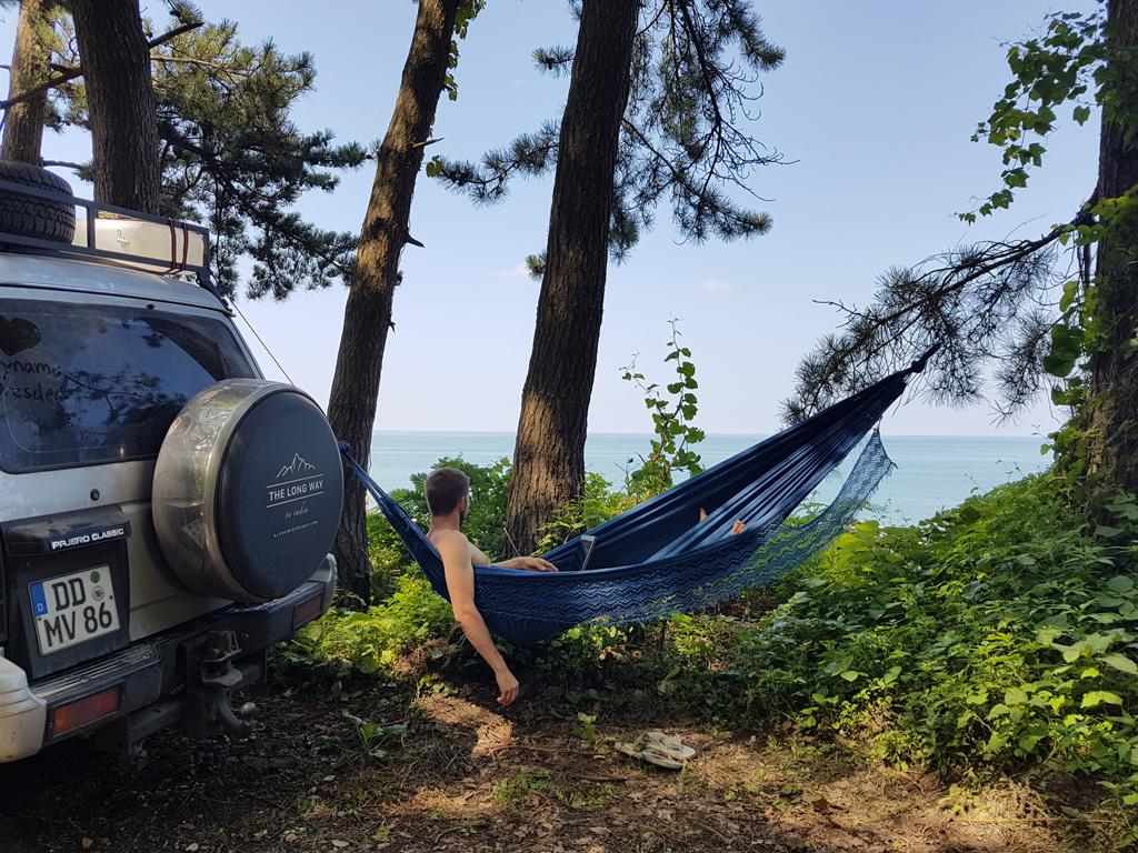 Das Leben genießen auf dem Campingplatz