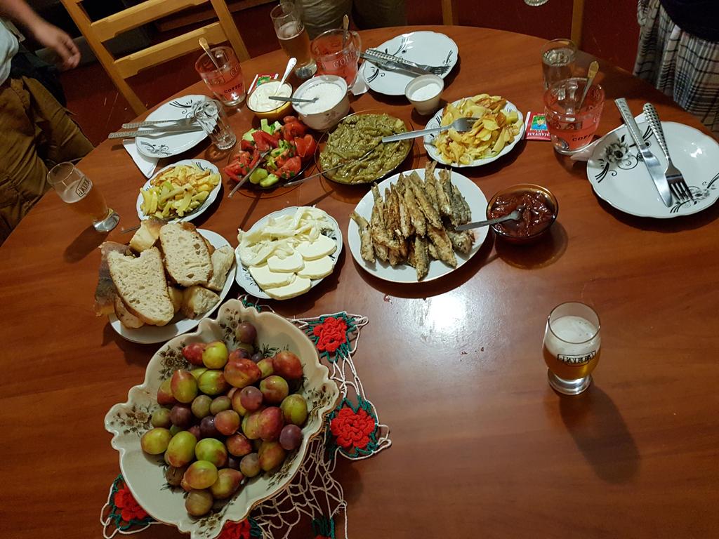 Unser Abendessen im Gästehaus