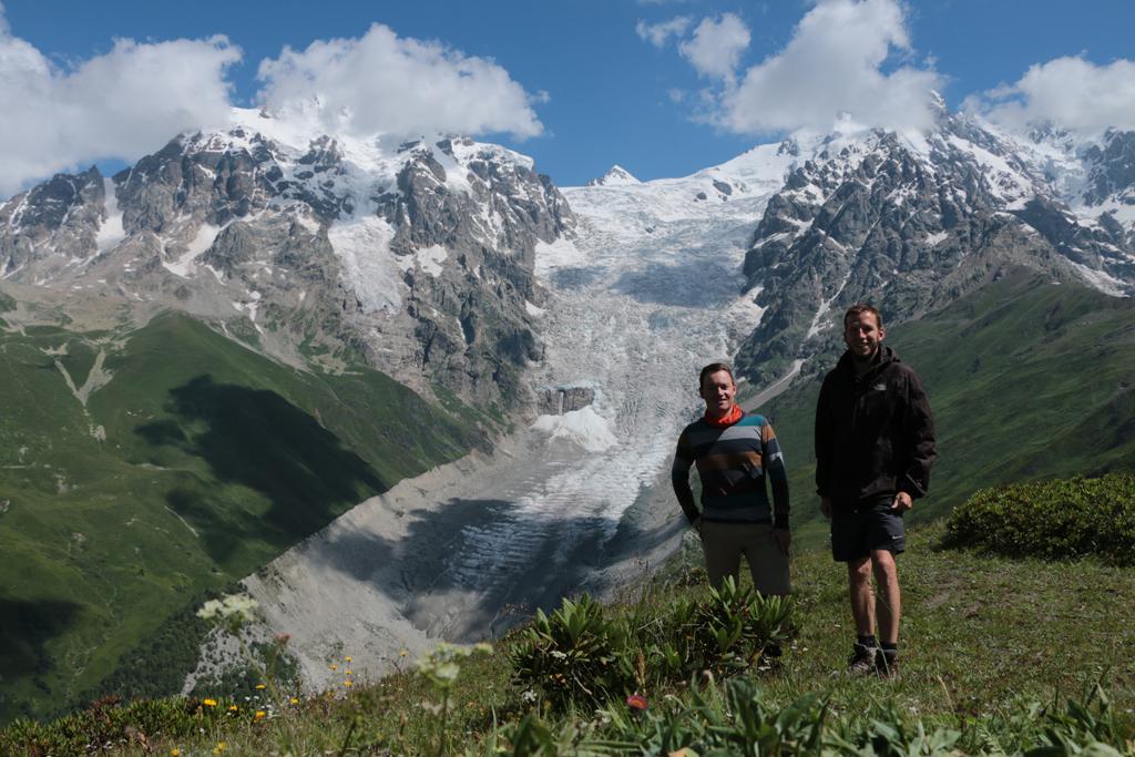 Gletscher eines 4000er Berg und wir