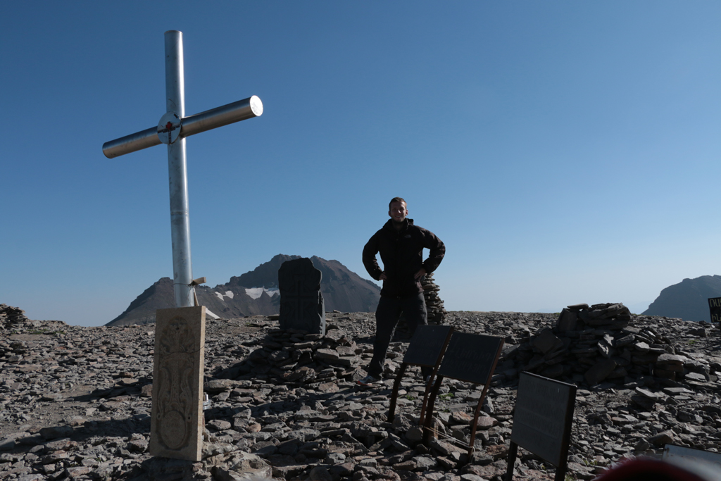 Angelangt am Gipfel