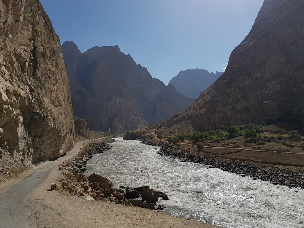 Die Strecke entlang der afghanischen Grenze