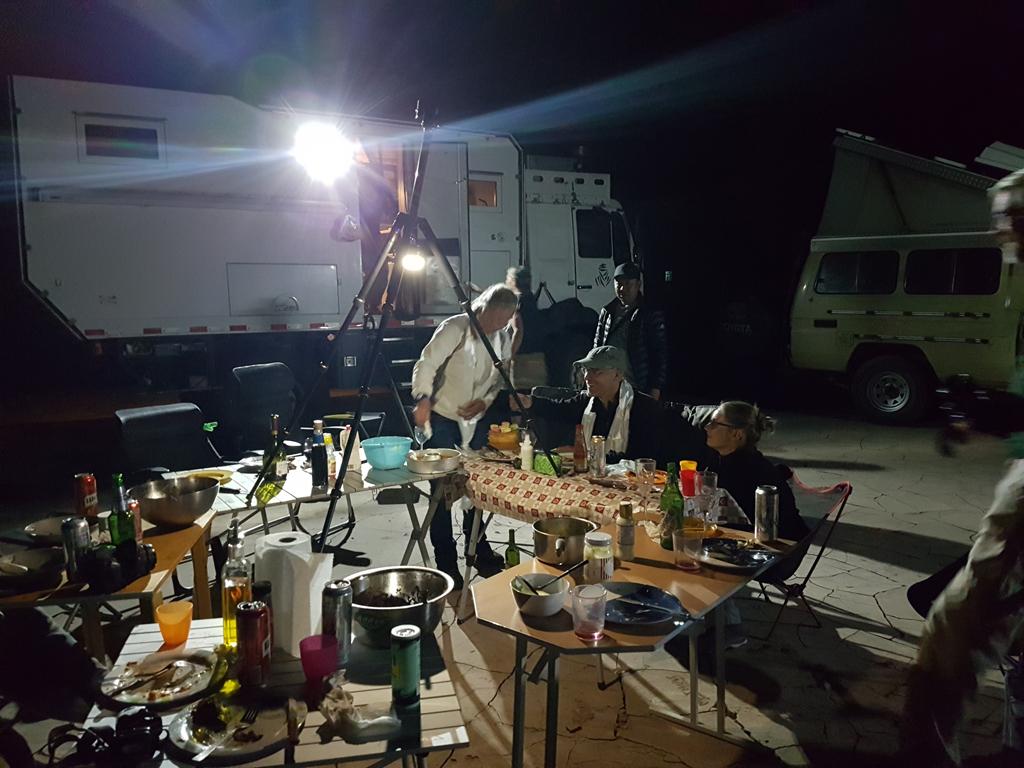 Abendessen in der Gruppe