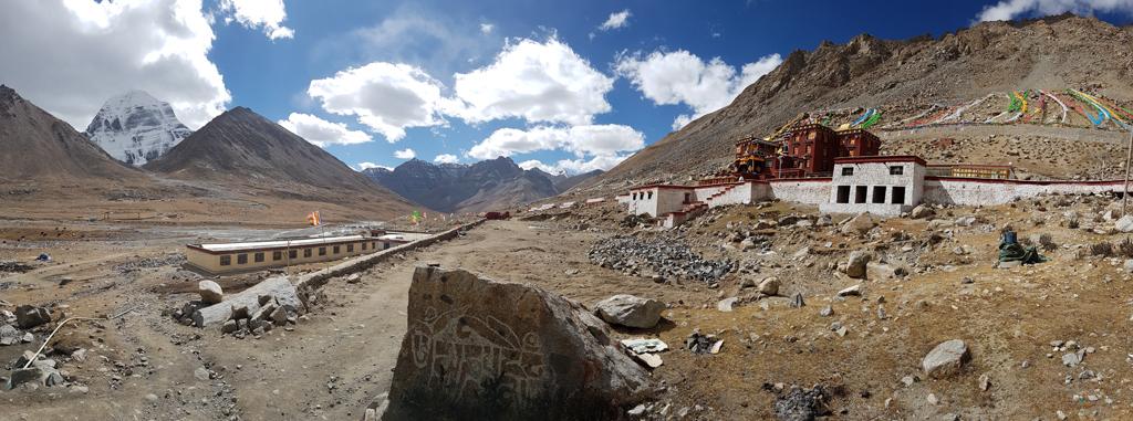 Panorama Kailash und Kloster