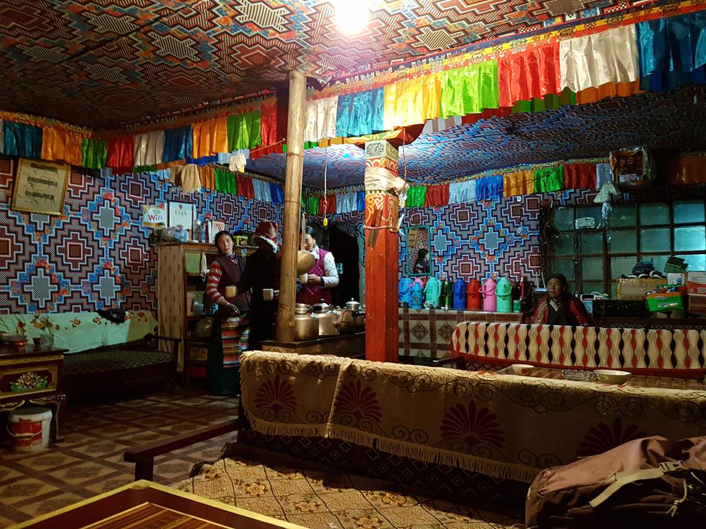 Typisch tibetisches Restaurant