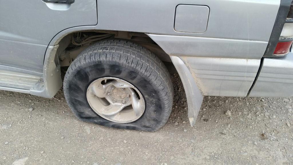 Der Reifen ist platt