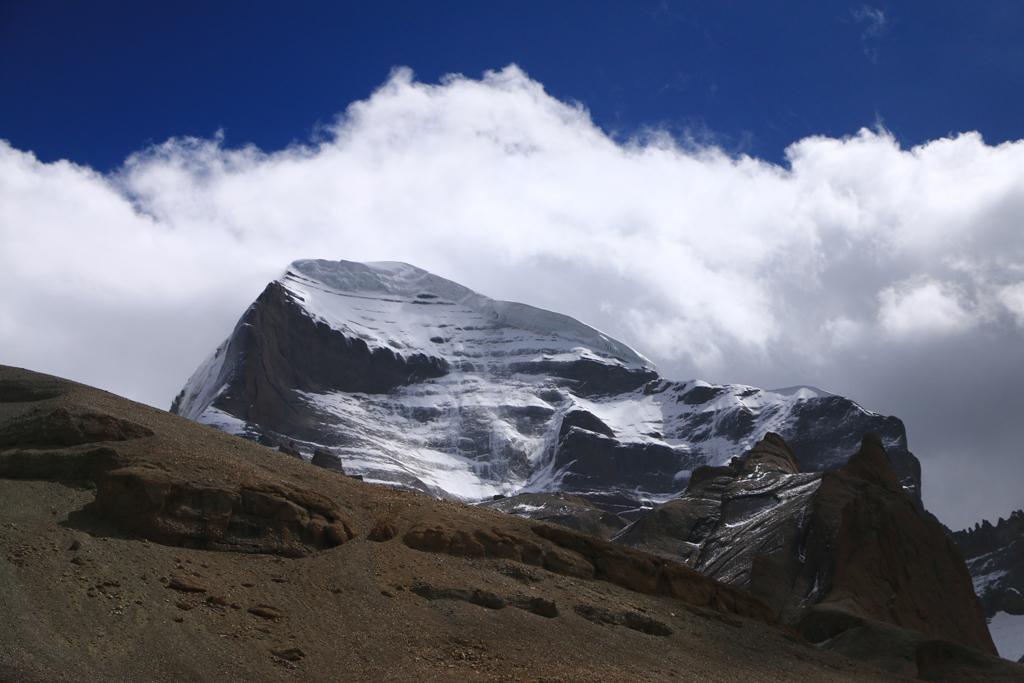 Der freiziehende Kailash. Werde ich jemals mehr von dem Berg zu Gesicht bekommen?
