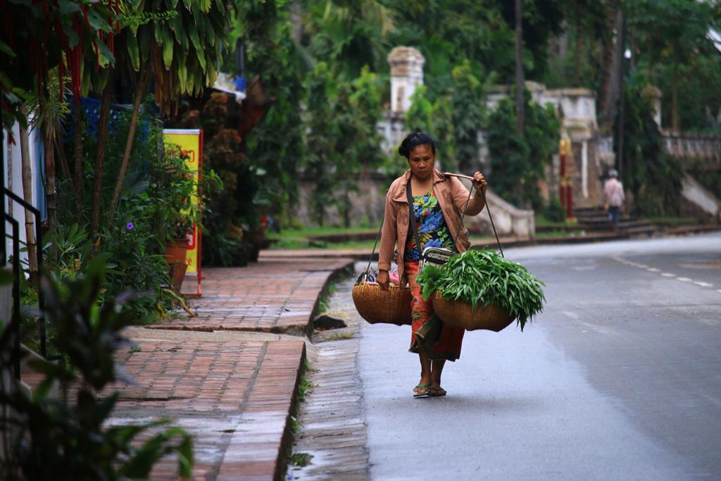 Eine Verkäuferin in Luang Prabang