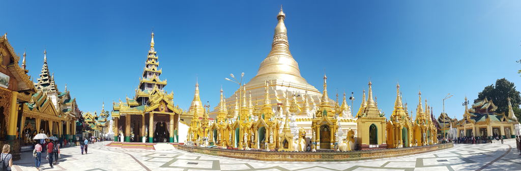 Panorama der Shwedagon Pagode