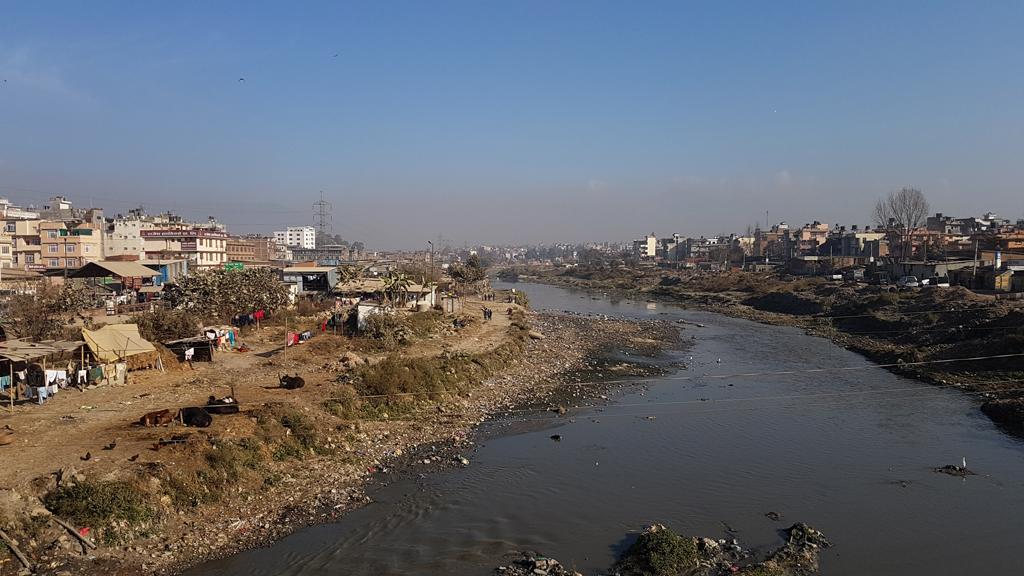 Verschmutztes Kathmandu
