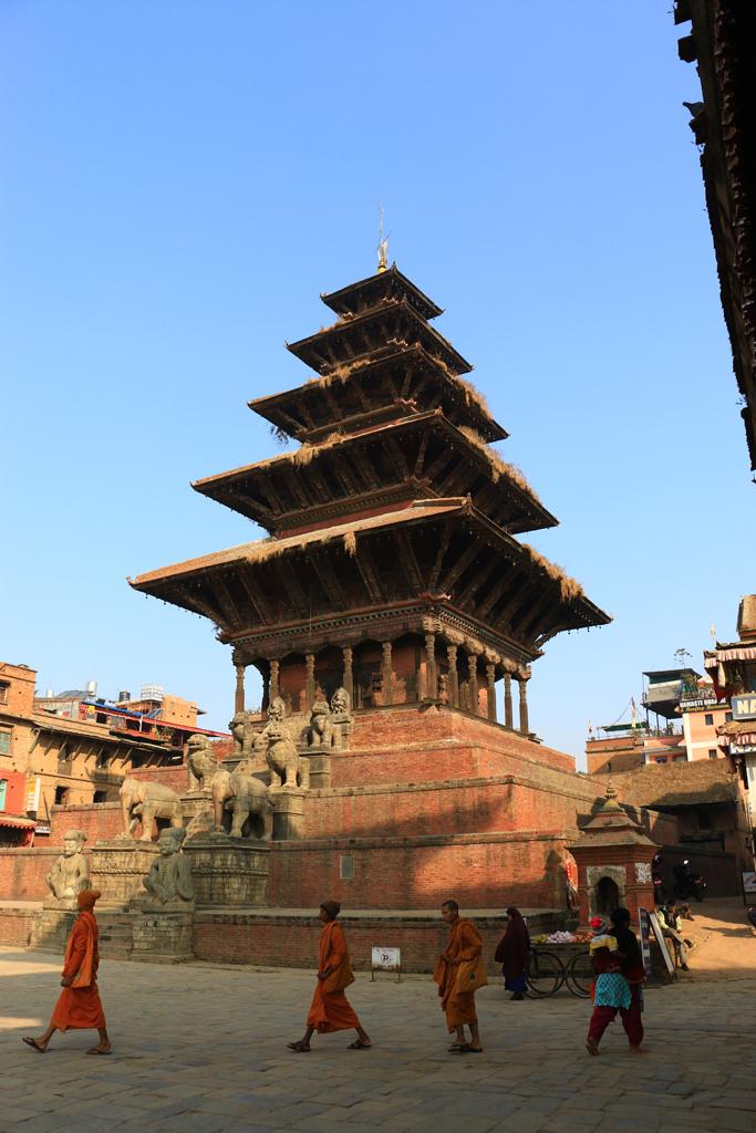 Diese Pagoda hat das Erdbeben überlebt