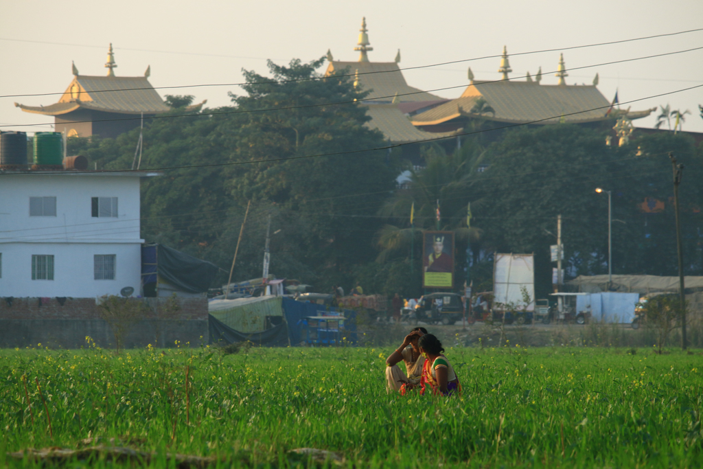 Der mächtige tibetische Tempel. Hier wurde eine dreitägige Pooja (Gebet) abgehalten.