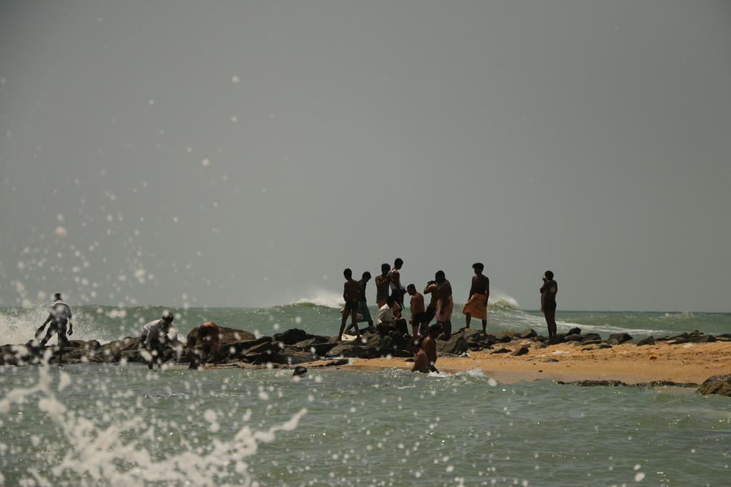 Das Meer war sehr rau hier am Südzipfel des indischen Subkontinents