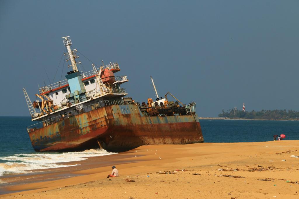 Dieses Schiff wollte wahrscheinlich woanders hin