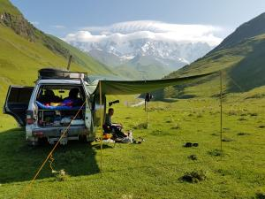 Camping in Ushguli