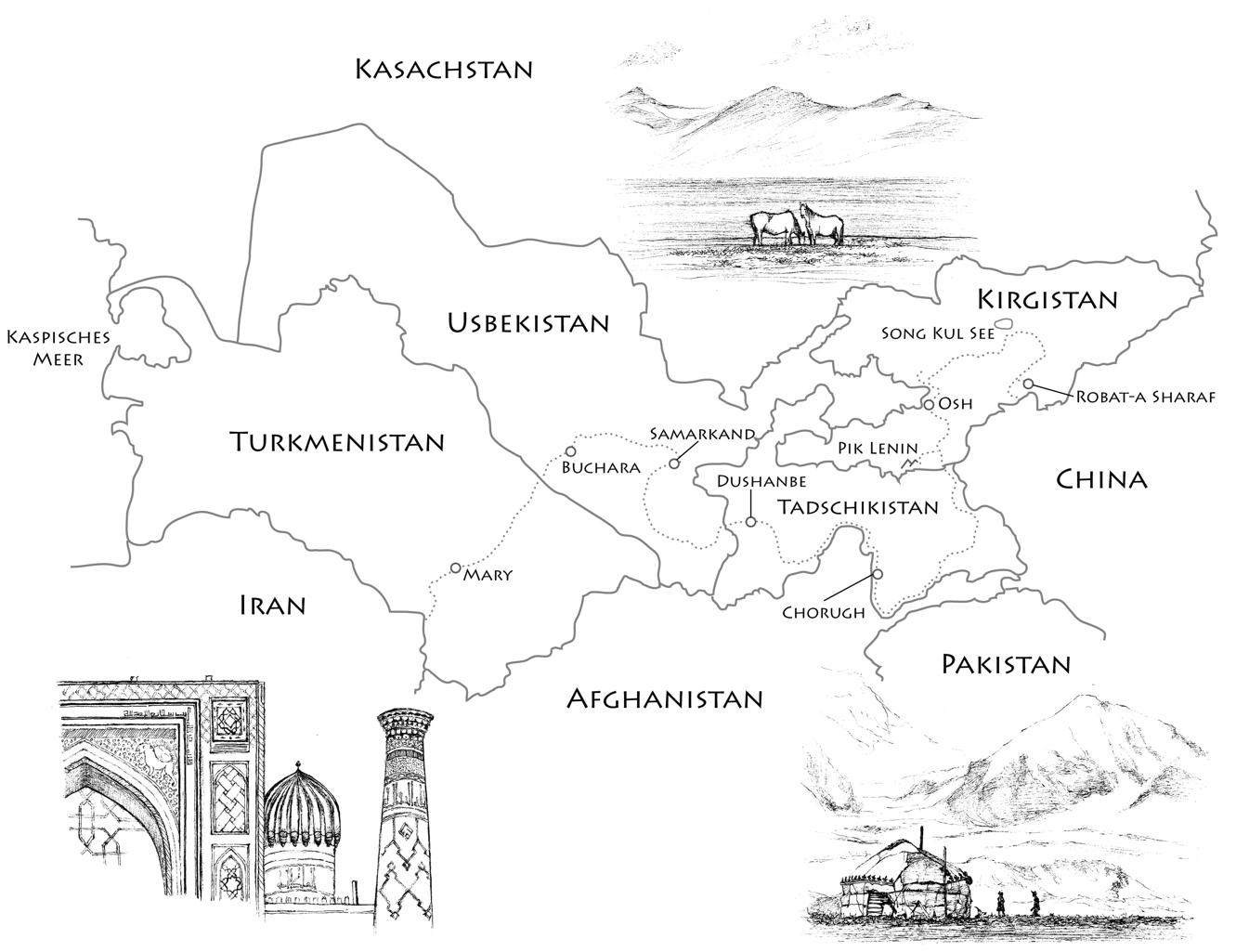 Auszug aus meinem Buch - Die Karte von Zentralasien