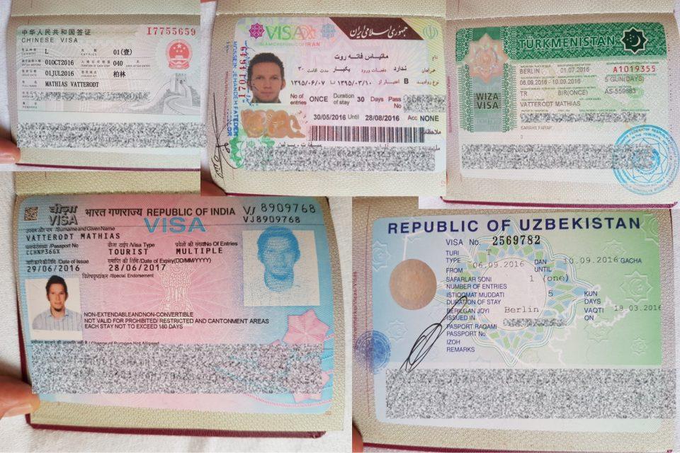 Die Organisation von Visa kann mühsam sein